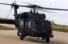 Blackhawk. Not sure of the exact model. But this is what he works on, Civi side. ;-)
