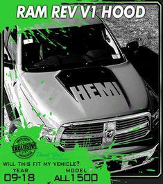 Dodge Ram 1500 Truck Hood decals emblem 2007 5.7L V8 pair HEMI PERFORMANCE
