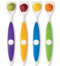 When your feeding your munchkin home-made baby food, every last drop counts as both time and money, so these spatula spoons help get every last drop from the bowl and into baby's mouth!  dr. brown's spoons