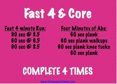 Fast 4 and core! #fitfluential