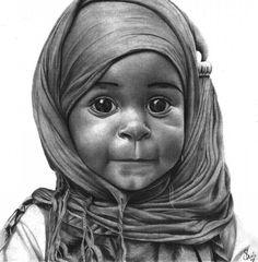 Original Portrait Drawing by Joseph Shola Graphite Art, Graphite Drawings, Abstract Portrait, Portrait Paintings, Painting Abstract, Acrylic Paintings, Art Paintings, African American Art, African Art