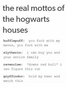 Um. I'm Slytherin and not rich. I can't buy you, but I'll still own yo ass.