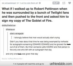 Why Robert is amazing. If I ever see him for any reason, I'll be doing this.