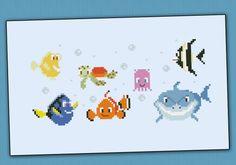 Finding Nemo Pixar chibi - PDF pattern by cloudsfactory