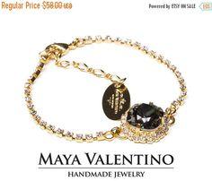 Swarovski bracelet 14K Gold Bracelet Montana by MayaValentino