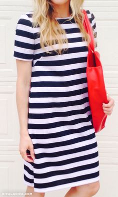 DIY Kate Spade Inspired Stripe Dress-Mc Calls pattern