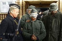 Wehrmacht soldiers under Russian guard #Historia #IIGM #Color
