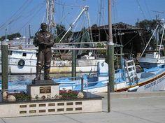 Greek Sponge Docks and stingray feeding. Sunset Beach in Tarpon Springs, FL