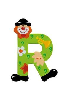 Sevi Alphabet (Clown) – Page 2 – SuperSmartChoices Clowns, Yarn Covered Letters, Painted Letters, Hand Painted, John Crane, Best Educational Toys, Circus Party, Learning Colors, Bunt