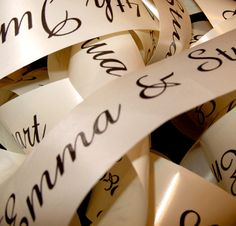 Personalised ribbon for putting round the candles!