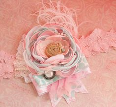 Pastel Princess Boutique Couture headband- vintage- shabby chic- Matilda Jane- Made by Mckenzie Grace Designs
