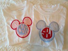 Items similar to Personalized Monogram Mickey Applique Shirt on Etsy Disney 2015, Disney Cruise, Disney Vacations, Disney Trips, Disney Ideas, Disney Diy, Disney Monogram, Brother Se400, Disney Bound