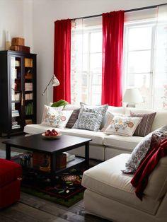 cortinas rojas ikea