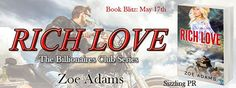 """✰ Rich Love by Zoe Adams ✰  Genre: Genre: Billionaire Romance, Western Romance Publisher: Limitless Publishing Hosted by: Sizzling PR  #SizzlingPR #RichLove #ZoeAdams #BookBlitz #TeamLimitless #Free #Ebook #OneClick  #Synopsis  Rich Love is book one in """"The Billionaires Series"""". All three books have recurring characters but can be read in any order.  The fresh prairie wind brings someone new to the ranch.  Royce and Susanna both know how to enjoy life. Together they indulge in Rich Love…"""