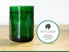 MITTLERER / Ø 8-8,5CM/ TANNENGRÜN (Glas / Becher) von GLÄSERNE TRANSPARENZ auf DaWanda.com