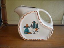 Wallace China Madrid Pitcher El Paso Hotel 6W Vintage 1948 Restaurant Hotel Ware