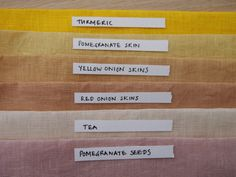 How to make natural dyes naturally dyed fabric from vegetable dyes Natural Dye Fabric, Natural Dyeing, Make Natural, Fabric Dyeing Techniques, How To Dye Fabric, Dyeing Fabric, Upcycled Crafts, Fabric Painting, Inspiration