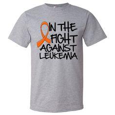 Leukemia Fashion T-Shirts #LeukemiaAwareness #LeukemiaShirts #InTheFightAgainstCancer