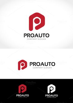 Pro Auto Logo by Super Pig Shop on @creativemarket