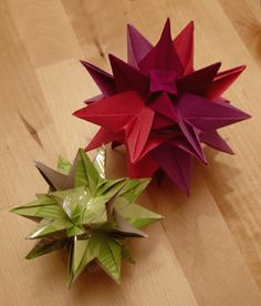 Origamipage - Stern Kusudama