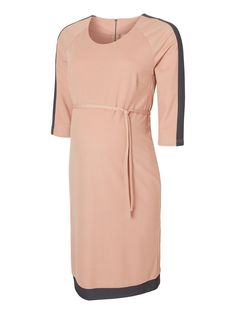 Maternity dress from MAMALICIOUS in elegant pink and grey colours.