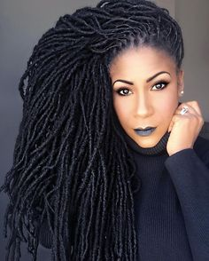 These locs ate beautiful 💕 Dreadlock Styles, Dreadlock Hairstyles, Braided Hairstyles, Locs Styles, Dope Hairstyles, Hairdos, Pelo Natural, Natural Hair Tips, Natural Hair Styles