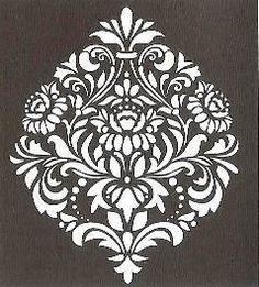 Laser Cut Stencils, Stencil Printing, Large Stencils, Damask Stencil, Stencil Patterns, Stencil Designs, Indian Art Paintings, Modern Art Paintings, Painting Stencils