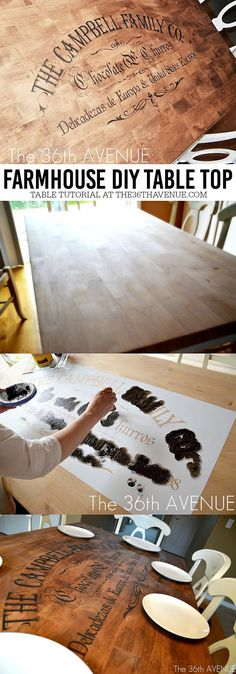 DIY Farmhouse Table Makeover - DIY Furniture Tutorials