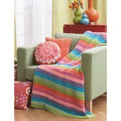 Striped Blanket - Patterns | Yarnspirations