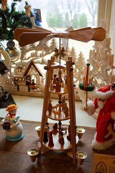 German Christmas Pyramid by Cynthia Woods