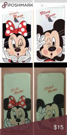 iPhone 6/6s plus Mickey and Minnie case 1 Mickey Mouse case and 1 Minnie Mouse case for iPhone 6/6s plus. Accessories Phone Cases