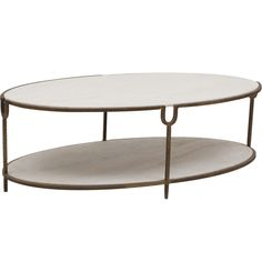Iron And Stone Oval Coffee Table - $1,679.00