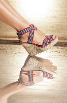 striped espadrilles | tory burch.