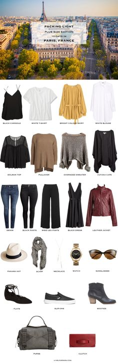 Paris France Plus Size Packing List #packinglight #packinglist #travellight…