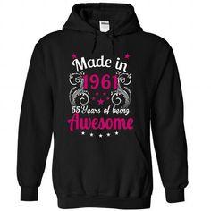Made in 1961 - #cat hoodie #red hoodie. ADD TO CART => https://www.sunfrog.com/Birth-Years/Made-in-1961-9974-Black-Hoodie.html?68278