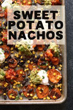 Healthy Sweet Potato Nachos.