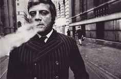 Oliver Reed, 1960s. Photo by Duane Michals.