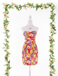 Vestido Flores Tropicais www.gunadress.com.br