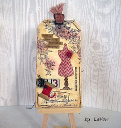 https://flic.kr/p/Hsr7Mh | My June tag for the 12 tags of 2016 Challenge | This is my June tag for the challenge.  Tim Holtz 12 tags of 2016. Details on my blog: lavonsinboxwhimsy.blogspot.com/