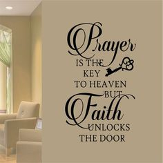 Positive Quotes Discover Christian Wall Decal Prayer is Key Faith Unlocks Religious Vinyl Wall Lettering Bible Quote for Home Decor Inspirational Scripture Verse Key Quotes, Bible Quotes, Scripture Verses, Advice Quotes, Biblical Quotes, Prayer Quotes, Qoutes, Custom Vinyl Lettering, Wall Lettering