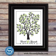 Wedding Tree Thumbprint Guestbook Alternative  by SincerelySadieDesign, $35.00
