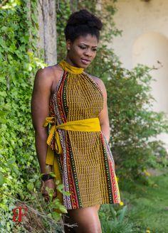 Ankara jurk Afrikaanse print jurk van MADKollection op Etsy