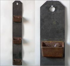 Rubber and iron conveyor belt wall pockets, rusty