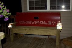 Another Tailgate Bench !!Easy to Make !!!!