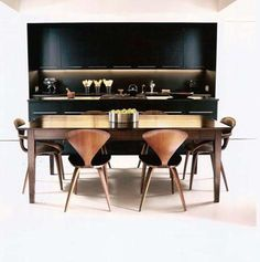 alexander petrovsky's kitchen sex and the city - Google Search~ black cabinets, black wall, brass/gold hardware!Yes yes yes