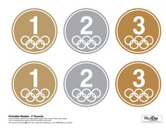 Free Printable Olympic Medals - The CreativiDee Workshop