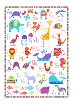 A4 ALPHABET Print By CarolineRoseArt On Etsy