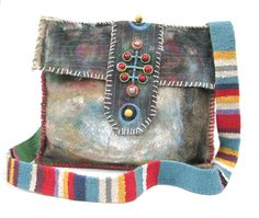 Upcycled Bag Handpainted Tribal One of a Kind by itzaChicThing, $80.00