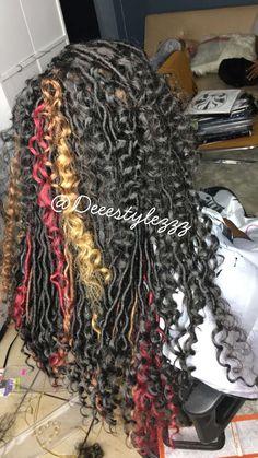 ‼️‼️‼️ #fauxlocs #bohemianlocs #half&half #crochethairstyles #crochetfauxlocs #hairstylist #hairstyles #locstylesforwomen #locs #hairstyling #chicagostylist #hairart #blackwomen #women #locs #protectivestyles #styles #curlyhair #weave #curly #locbun Crochet Hair Styles, Crochet Braids, Box Plaits, Bohemian Locs, Curly Hair Styles, Natural Hair Styles, Braids With Weave, Beautiful Braids, Goddess Braids