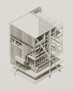 Diagram architectural section, architecture graphics, axonometric drawing. Architecture Presentation Board, Architecture Collage, Architecture Board, Architecture Graphics, Architecture Visualization, Architecture Drawings, Architecture Portfolio, Architecture Details, Container Architecture